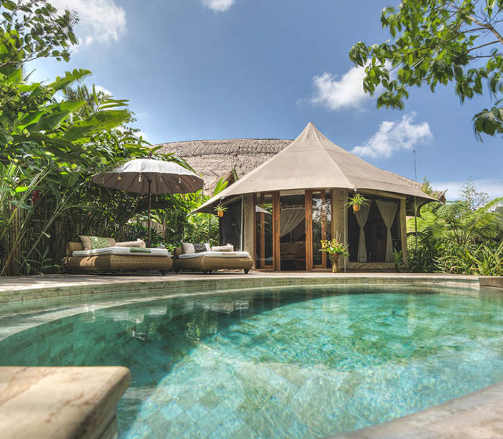 Tent Ogoh Ogoh & Luxury Resort in Bali the best boutique hotel in Ubud Indonesia